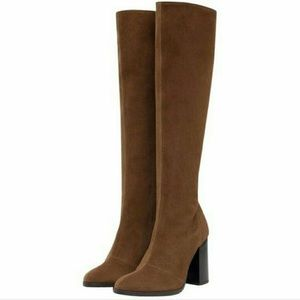 Zara Leather Knee Boots